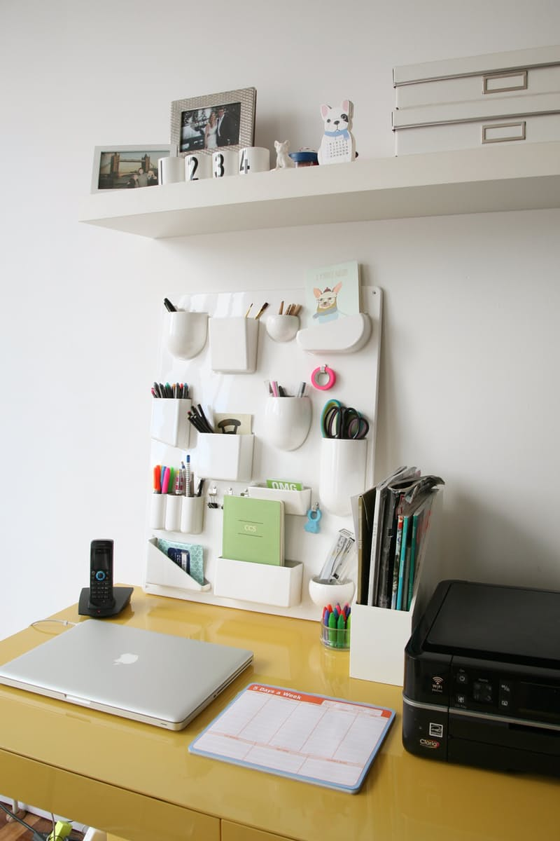 5 ways to organize a desk without drawers pinlavie