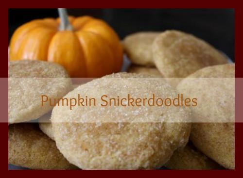 Pumpkin Spice: Pumpkin Snickerdoodles – PinLaVie.com