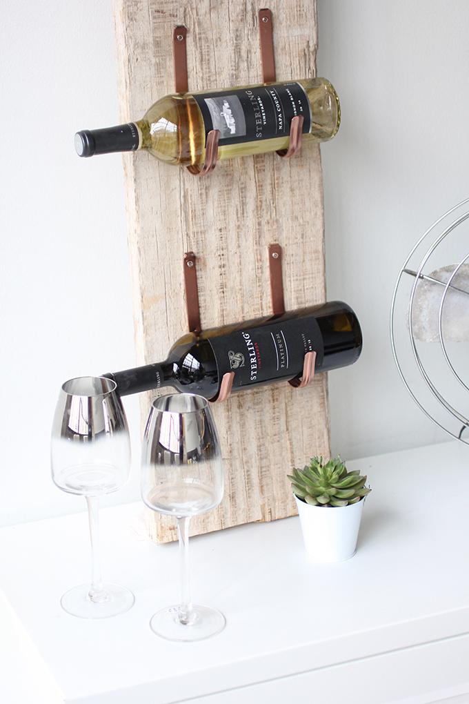 Diy Reclaimed Barn Wood Wine Rack
