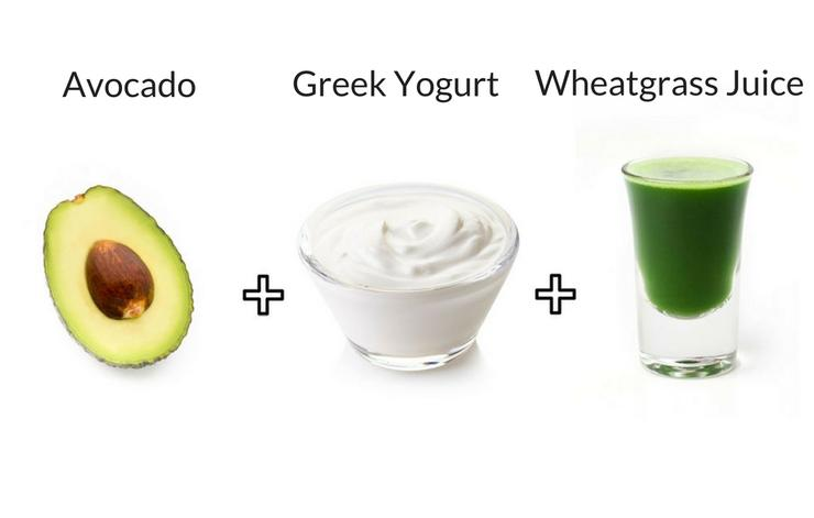Avocado-greek-yogurt-wheatgrass-juice