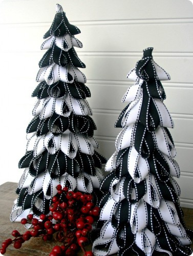 Ribbon Christmas Trees – PinLaVie.com