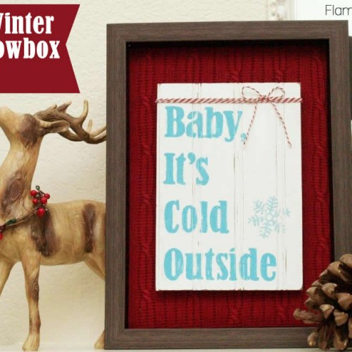 Diy Winter Shadowbox 500x500 Jpg