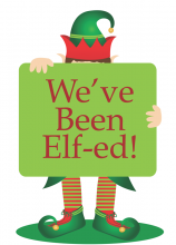 image regarding You've Been Elfed Free Printable identify Youve Been Elf-ed! Begin A Local Vacation Culture
