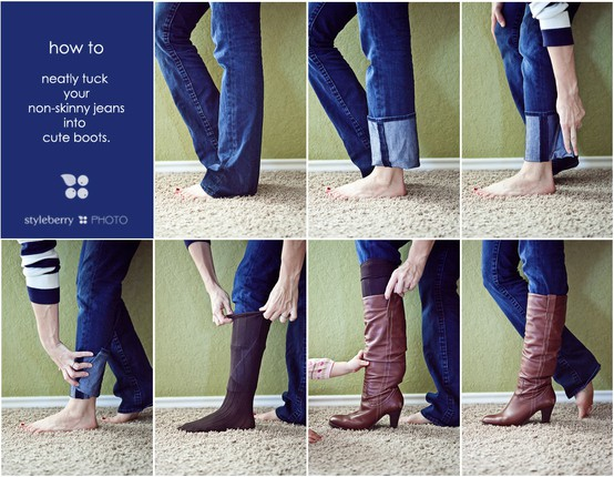 How To Tuck Non-Skinny Jeans Into Boots – PinLaVie.com