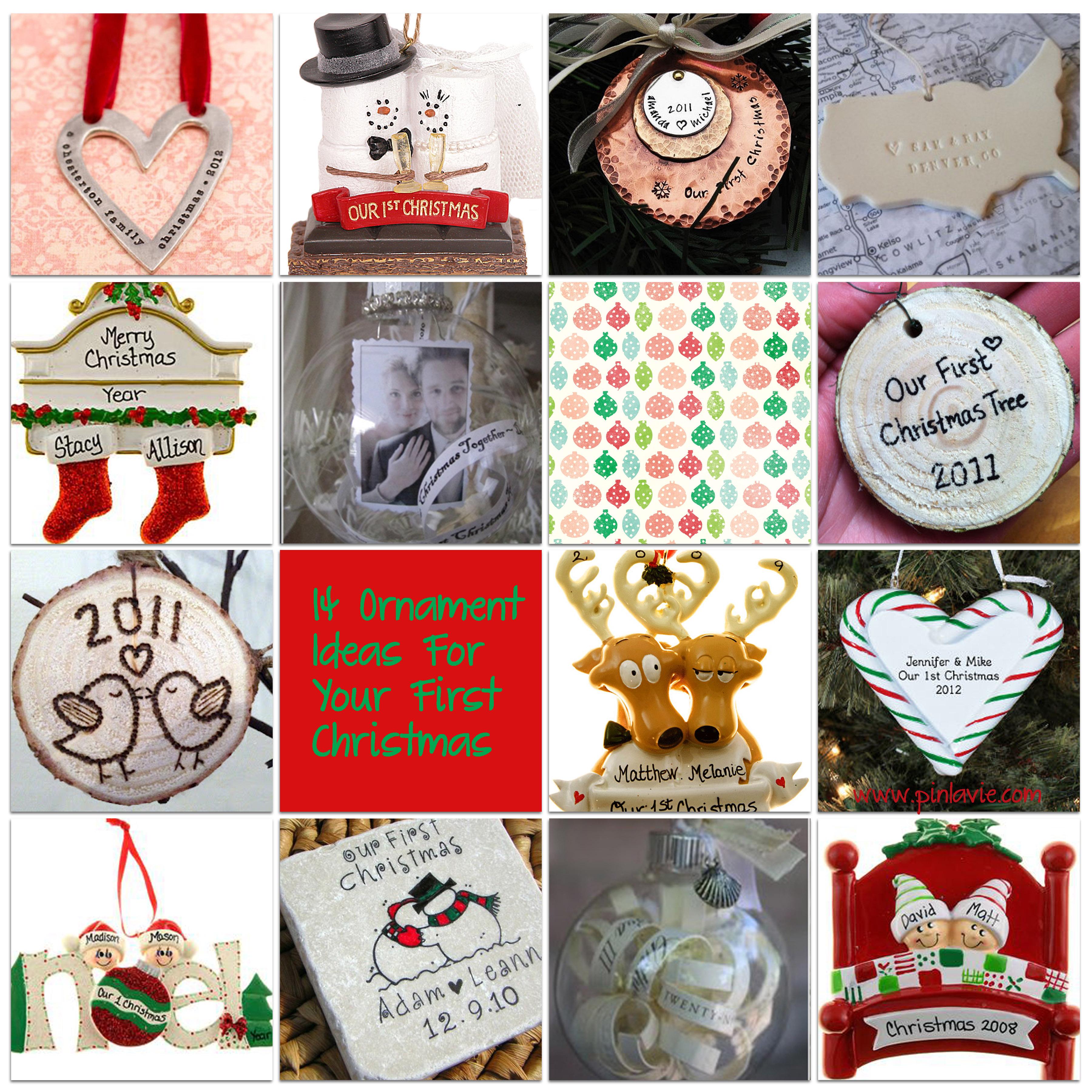 14 Ornament Ideas For Your First Christmas – PinLaVie.com