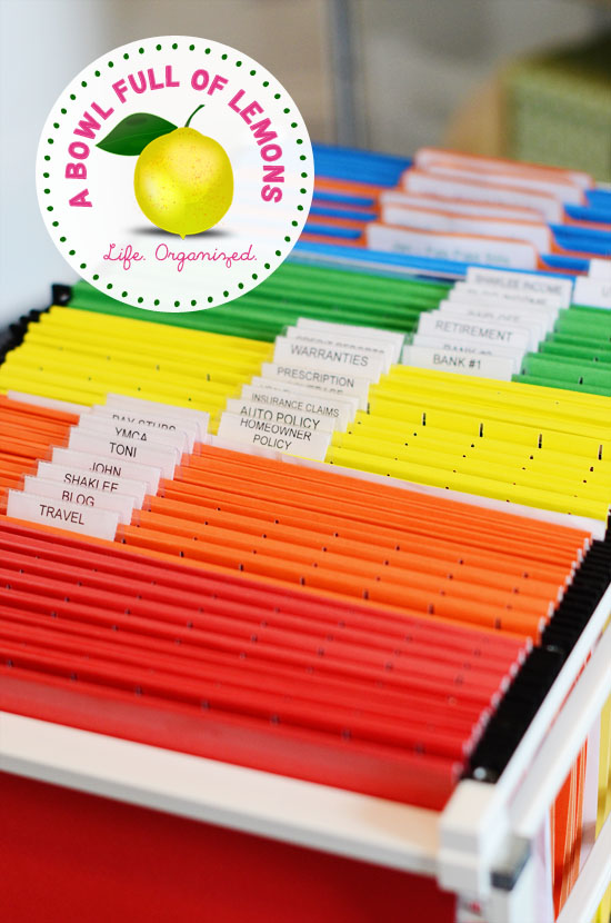Organizing your home filing system