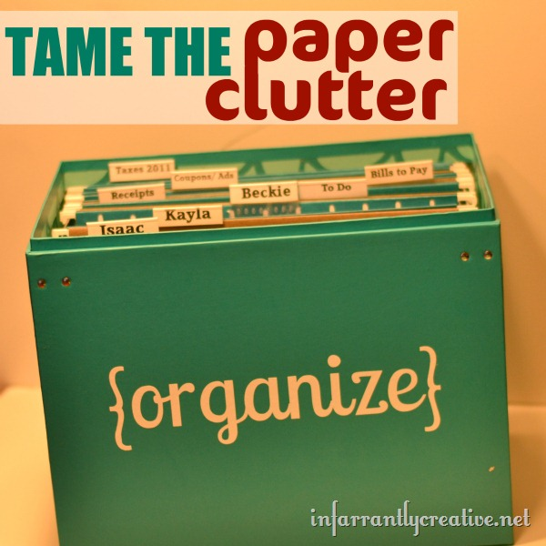 organizing paper clutter Do you ever feel that organizing papers could be a full-time job the steady stream of flyers, junk mail, school papers and bills increase your efficiency.