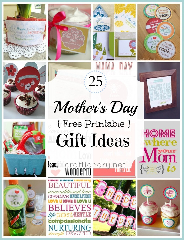 25 Mother S Day Free Printable Gift Ideas Pinlavie Com