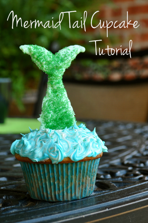 Mermaid Tail Cupcakes Tutorial PinLaViecom