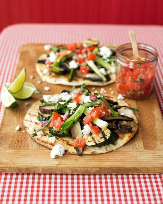 Grilled Vegetable Tostadas – PinLaVie.com