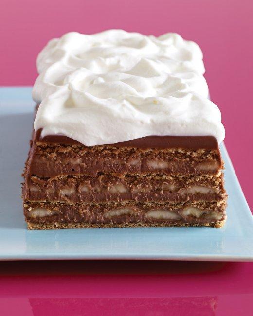 Chocolate Banana Graham Cracker Icebox Cake