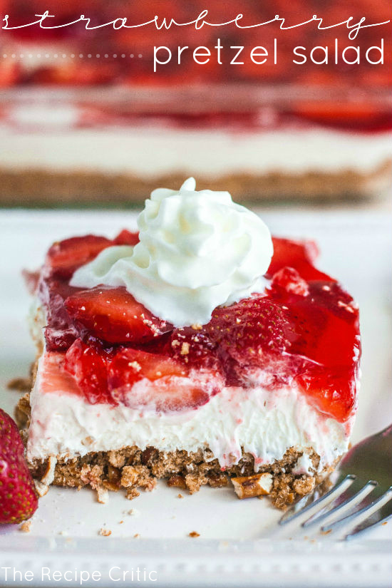 Strawberry Pretzel Salad – PinLaVie.com