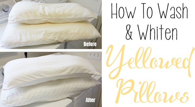 how to wash whiten yellowed pillows. Black Bedroom Furniture Sets. Home Design Ideas