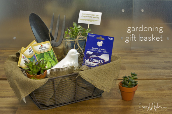 Gardening Gift Basket Ideas additional ideas and suggestions Cherylstyle Gardener Gift Basket 590x393