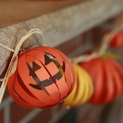 Halloween pumpkin garland for Halloween girlande