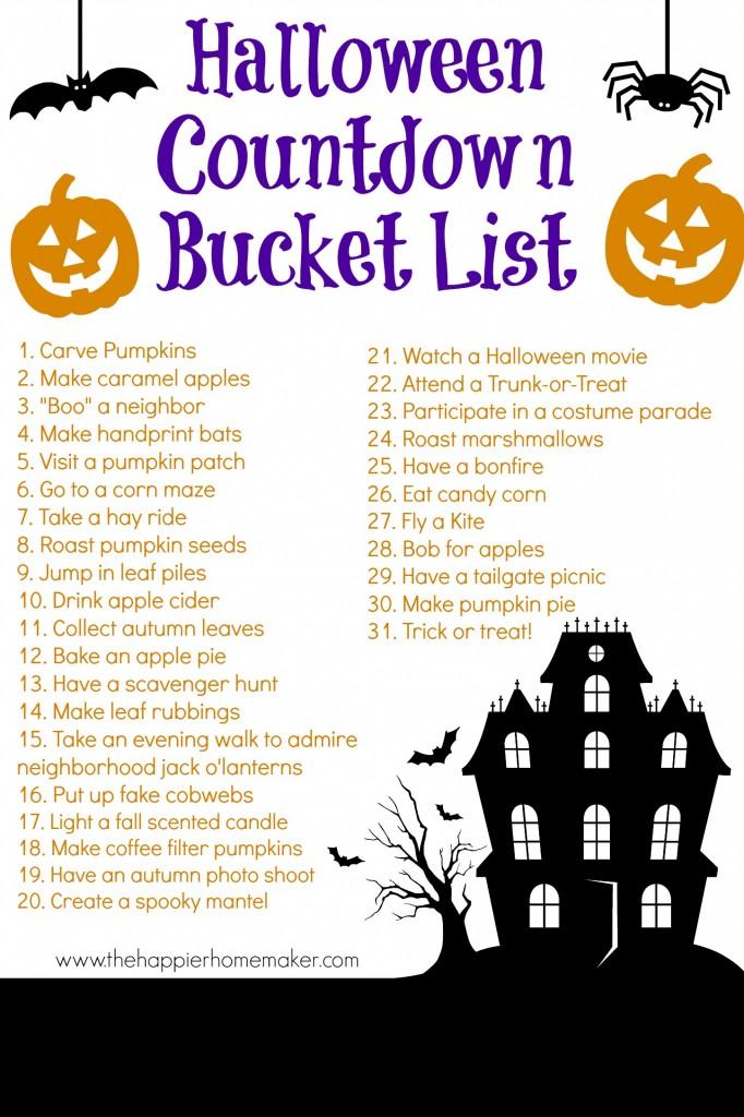 Halloween Countdown Bucket List – PinLaVie.com