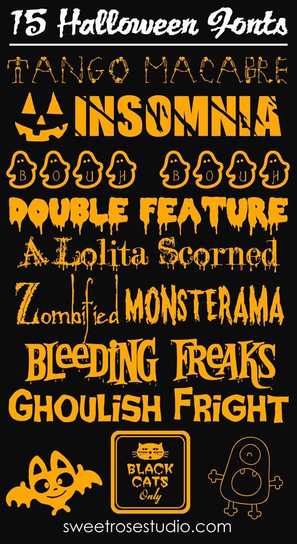 15 Free Halloween Fonts – PinLaVie.com