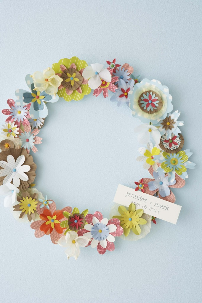 Diy spring paper flower wreath pinlavie diy spring paper flower wreath mightylinksfo
