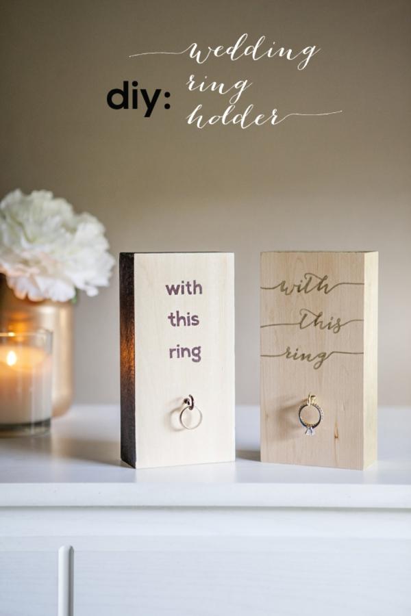 diy wood block wedding ring holder - Wedding Ring Holder
