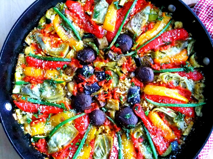 Vegetable Paella Italian Style Pinlavie Com
