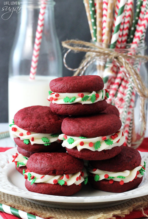 Red Velvet Cookie Sandwiches Pinlavie Com