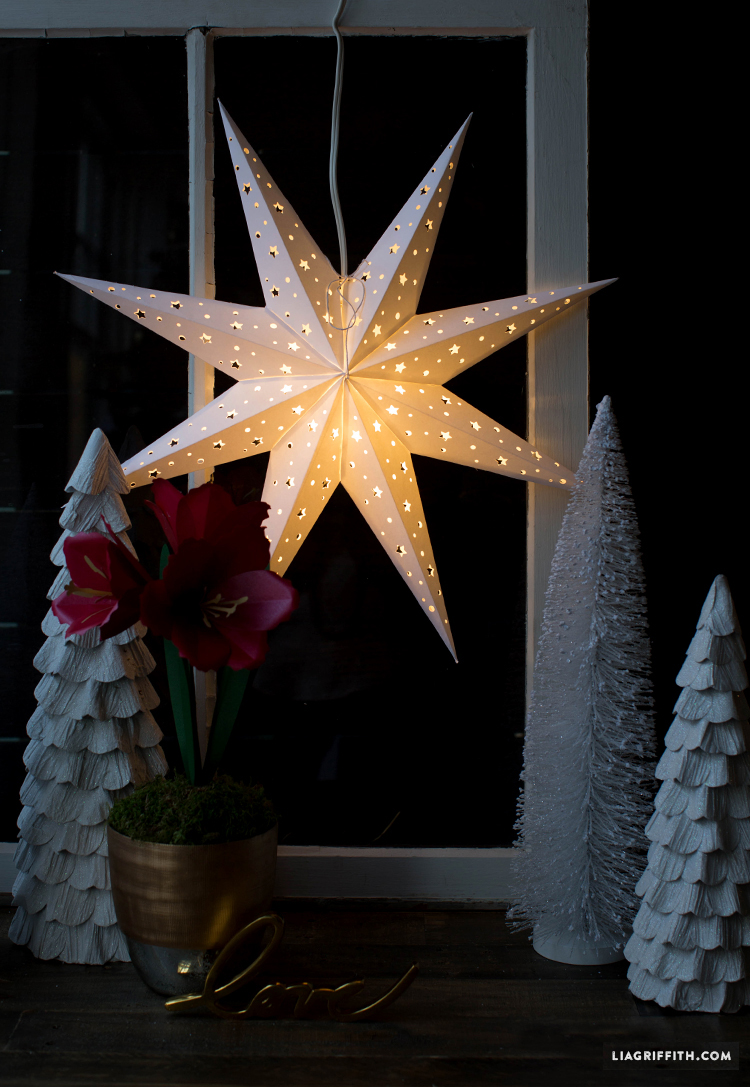Diy Paper Star Window Decoration Pinlavie Com