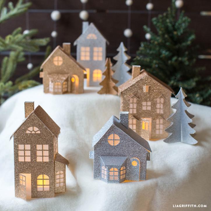 3d Paper Christmas Village Pinlavie Com