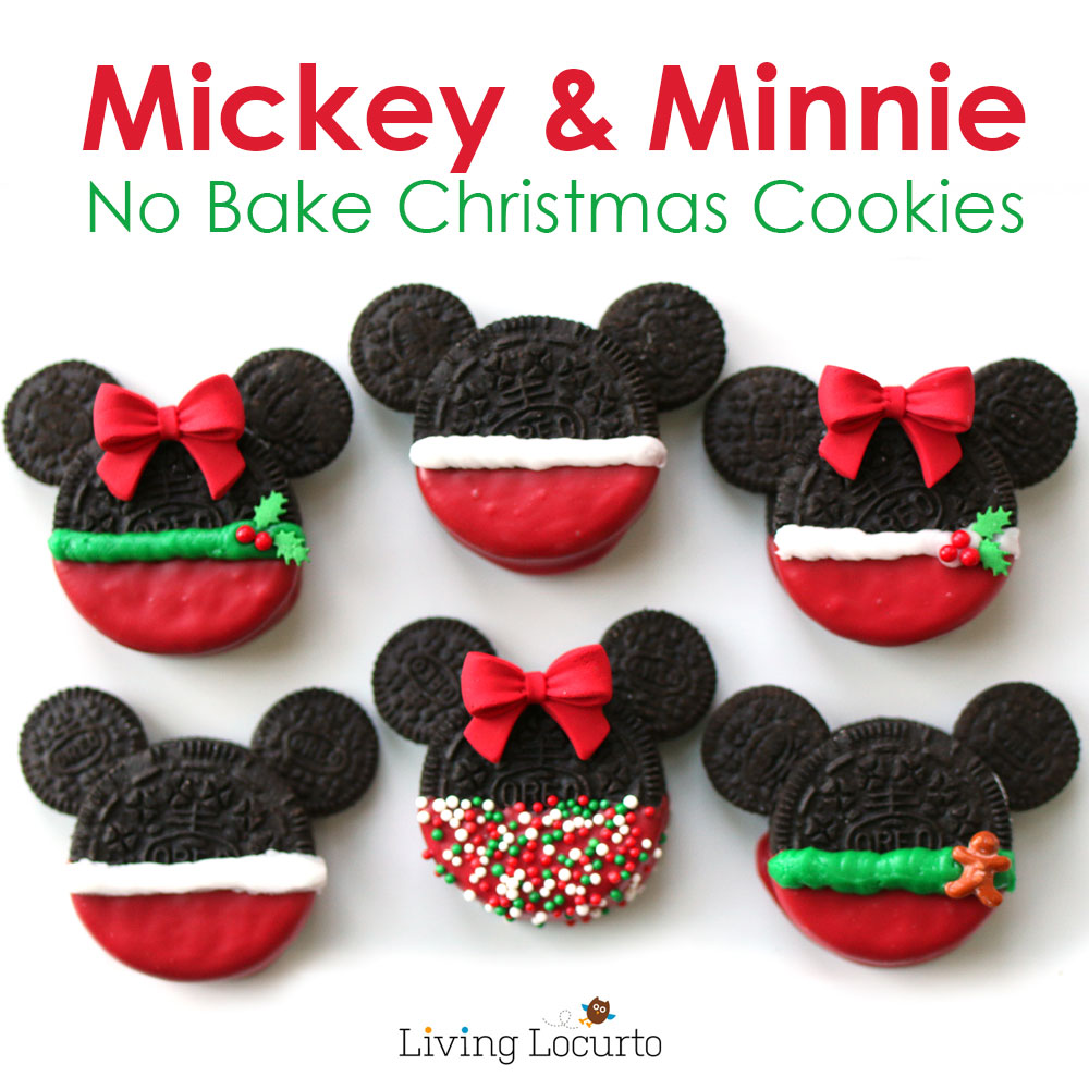 Christmas Ornaments On Homemade Mickey Mouse