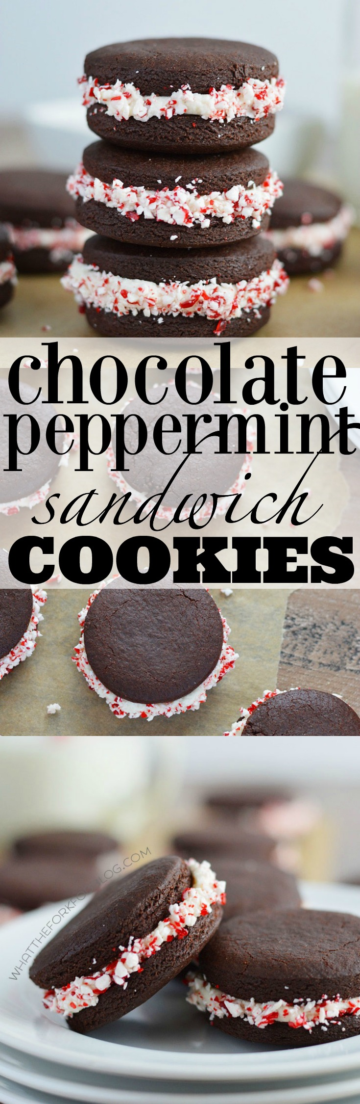 These chocolate peppermint sandwich cookies are full of chocolate and ...