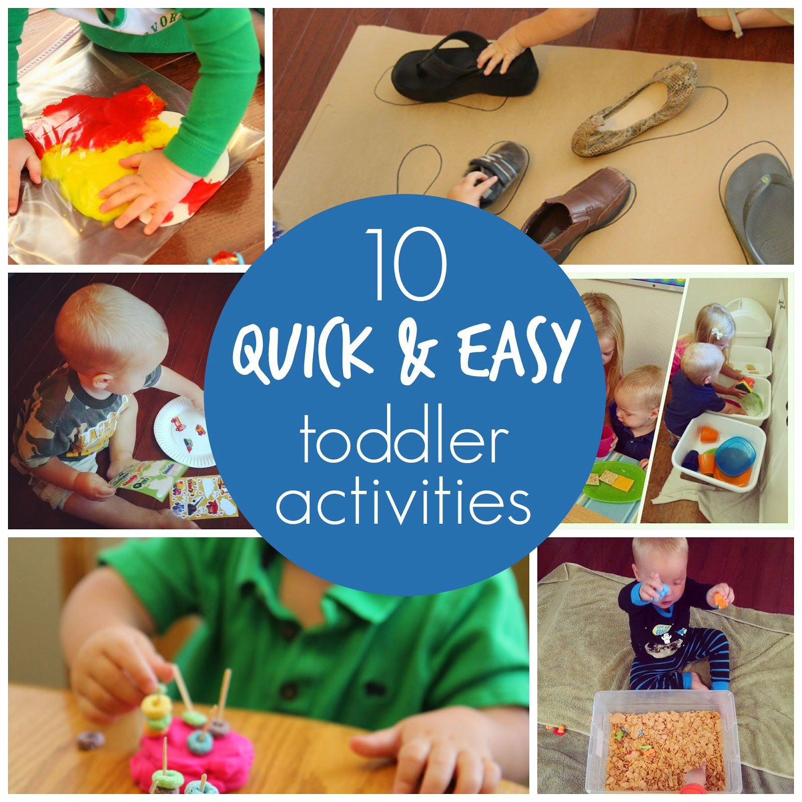 10 Quick Easy Toddler Activities