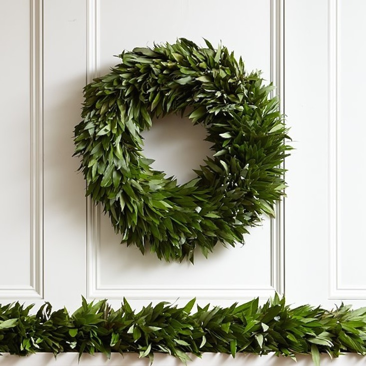 Fresh-evergreen-christmas-garland-bay-gardenista
