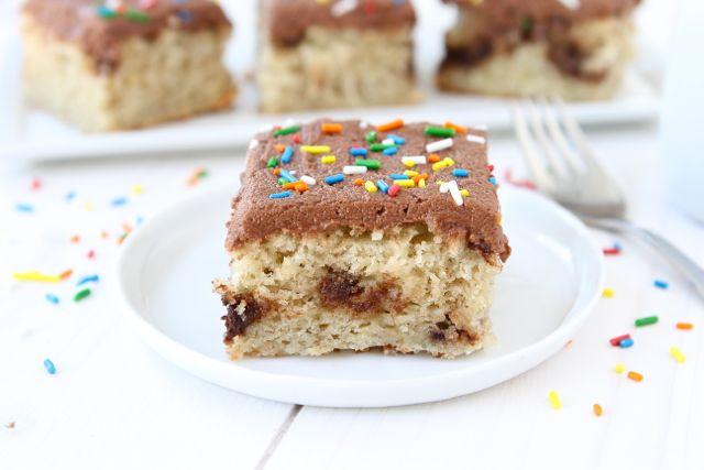 Banana Nutella Swirl Cake with Nutella Frosting – PinLaVie.com