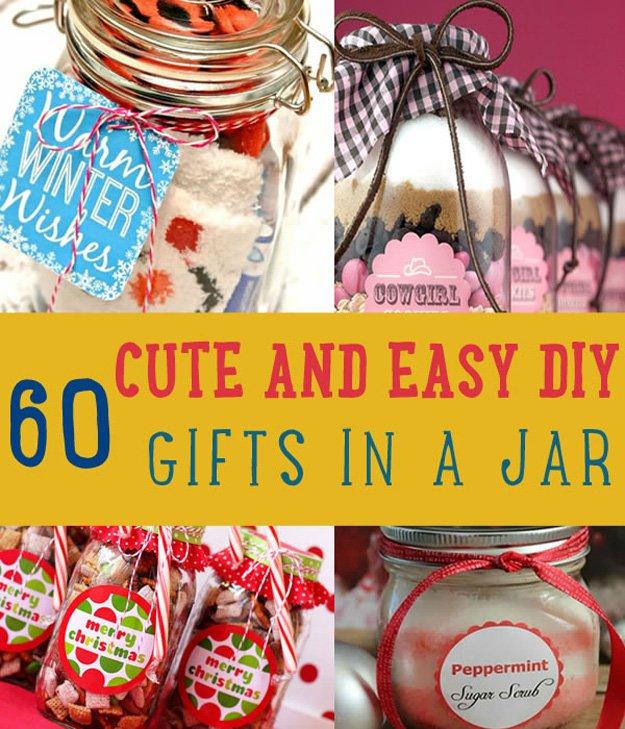 60 cute easy diy gifts in a jar