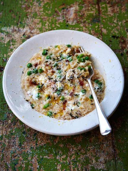 Pea_and_goat_s_cheese_risotto
