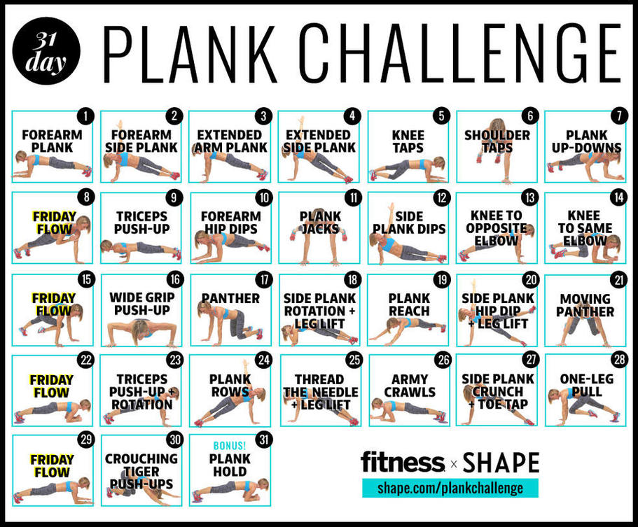 The Ultimate 30-Day Plank Challenge for Your Strongest ...