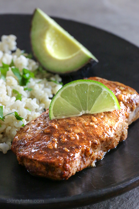 Quick-garlic-lime-marinated-pork-chops