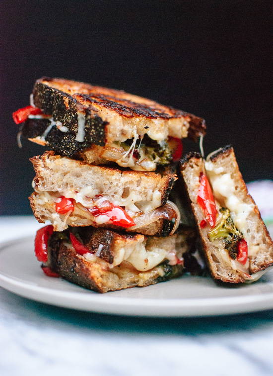 Roasted-broccoli-and-red-pepper-grilled-cheese-1