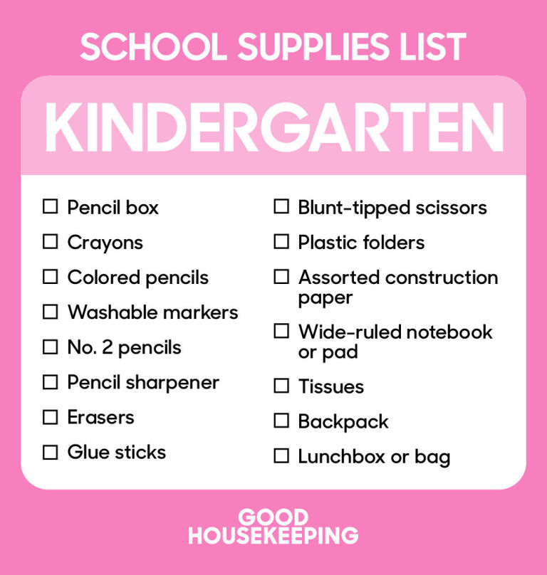 The Ultimate Back To School Shopping Lists From