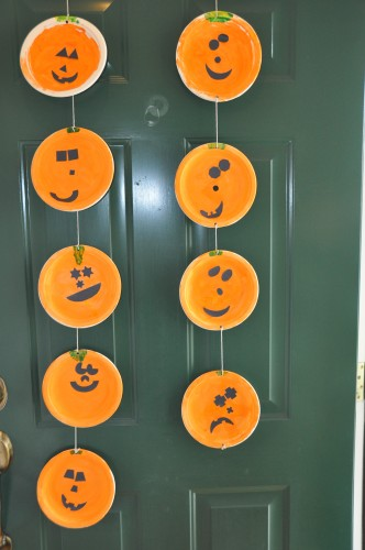 Summer Party Decorations: Jack-O-Lanterns Paper Plates Craft For Kids