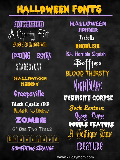 A Collection Of The Best Halloween Fonts & Dingbats