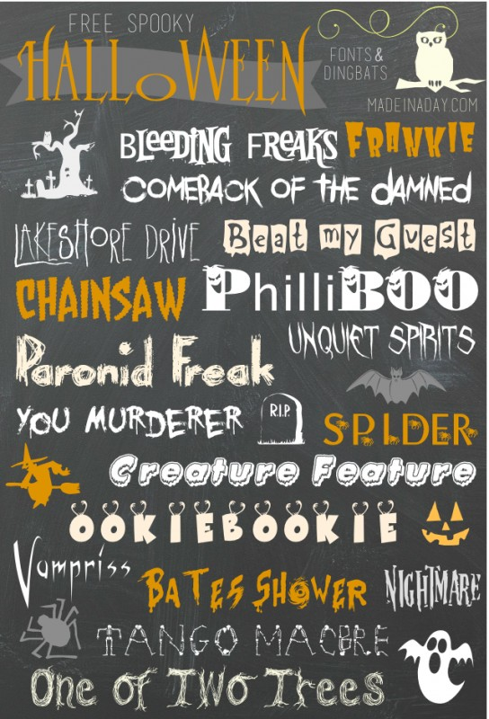 A Collection of the Best Halloween Fonts & Dingbats – PinLaVie com