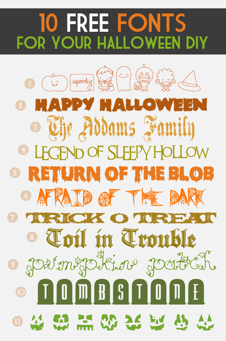 A Collection of the Best Halloween Fonts & Dingbats – PinLaVie.com