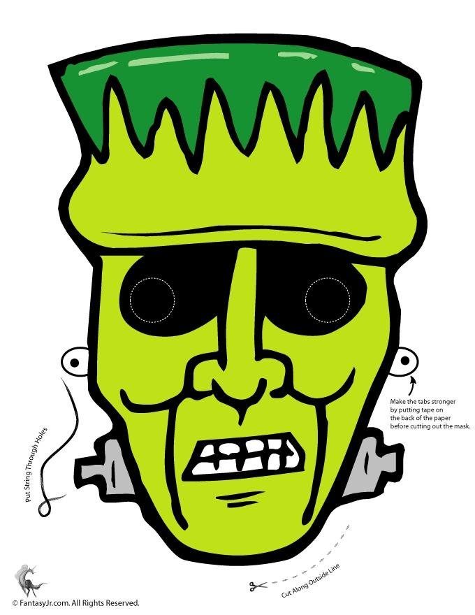 photo regarding Printable Halloween Masks called A Choice Of Printable Halloween Masks