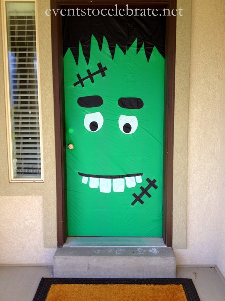 Frankenstein Front Door & Halloween Inspiration: Silly Monster and Ghost Doors and more ...