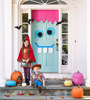Halloween Inspiration Silly Monster And Ghost Doors And