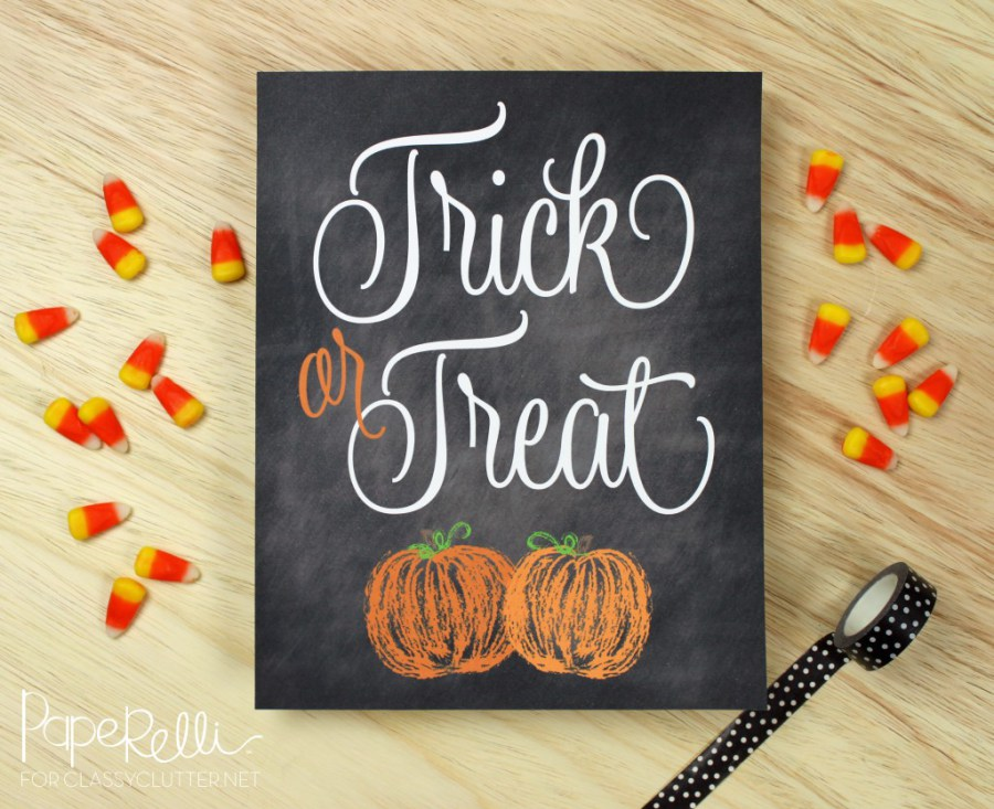 photo relating to Trick or Treat Signs Printable identify 7 Halloween Sweet Printable Indications