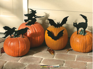 11 pumpkin centerpiece - Metal Halloween Decorations