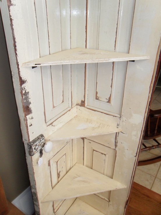 Salvaged doors repurposed - Cabinet made from old doors ...